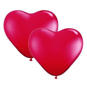 Red Heart Shaped Balloons (10 Pack)