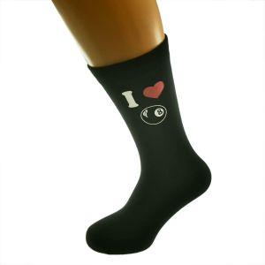 I Love Pool Picture Design Socks