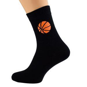 Basketball Sports Design Mens Black Socks