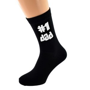 #1 Dad Socks for your Number One Dad!
