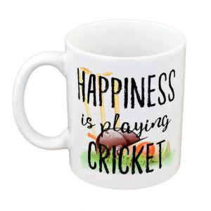 Happiness is Playing Cricket Mug